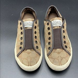 Slip-On Coach Canvas Sneakers